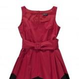 rozkloszowana sukienka Bialcon w kolorze bordowym - wiosna 2013