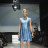 rozkloszowana sukienka Plich w kolorze niebieskim - moda na wiosnę i lato 2013