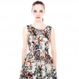 rozkloszowana sukienka Pull and Bear - zima 2013/14