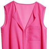 różowa bluzka H&M luźna - lato 2012