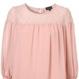 różowa bluzka Topshop z koronką - kolekcja wiosenna