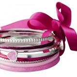 różowa bransoletka H&M - wiosna/lato 2012