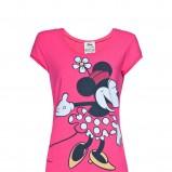 różowa koszulka Mango z nadrukiem - kolekcja wiosenno/letnia