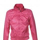 różowa kurtka Troll ze skóry - wiosenna kolekcja