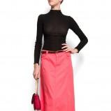 różowa spódnica Mango długa - wiosna/lato 2012