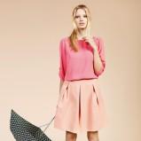 różowa spódnica Reserved rozkloszowana - moda 2012