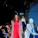 różowa sukienka Deni Cler maxi - pokaz jesienno-zimowy 2013/2014
