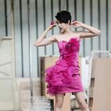 różowa sukienka Milita Nikonorov - jesień/zima