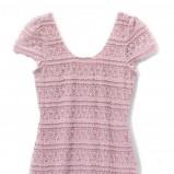 różowa sukienka Mohito - zima 2011/2012