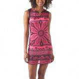 różowa sukienka Promod w etniczne wzory - lato 2012