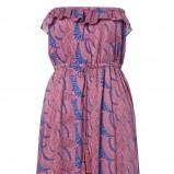 różowa sukienka s.Oliver w liście - kolekcja na lato