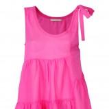 różowa sukienka Stefanel asymetryczna - wiosna/lato 2012
