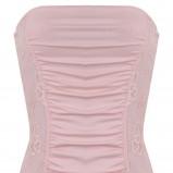 różowa sukienka Tally Weijl marszczona - jesień 2011