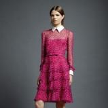 różowa sukienka Valentino w panterkę - kolekcja wiosenna