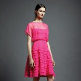 różowa sukienka Valentino z falbankami - kolekcja letnia