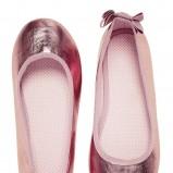 różowe baleriny H&M z kokardą - wiosna/lato 2012