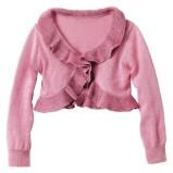 różowe bolerko H&M z falbanami - wiosna/lato 2012