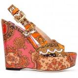 różowe sandały Dolce&Gabbana na koturnie - wiosna/lato 2012