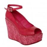 różowe sandały Venezia na koturnie - sezon wiosenno-letni