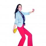 różowe spodnie cache cache - moda wiosna/lato