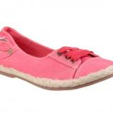 różowe tenisówki CCC ze sznurkiem - wiosna/lato 2012