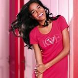różowy koszula nocna Victorias Secret z nadrukiem - wiosna/lato 2012