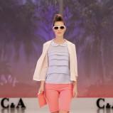 różowy płaszcz C&A - trendy wiosenne