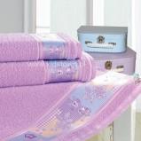 różowy ręcznik Kids Town z aplikacją