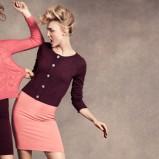 różowy sweter H&M - jesień 2012
