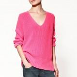 różowy sweter ZARA - jesień/zima 2011/2012
