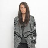 rozpinany sweter Top Secret w kolorze popielatym - moda 2013/14