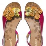sandałki Badura z kwiatkami - obuwie na lato