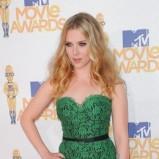 Scarlett Johansson w zielonej, koronkowej sukni