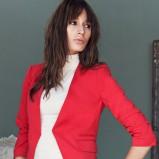 seksowna marynarka H&M w kolorze czerwonym - moda na jesień i zimę