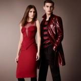 seksowna sukienka Burberry w kolorze czerwonym - kolekcja na jesień 2012