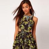 seksowna sukienka River Island w odcieniach zieleni w kwiatowy wzór  - moda 2012/2013