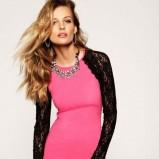 seksowna z długim koronkowym rękawem sukienka Juicy Couture w kolorze czarnym - kolekcja świąteczna 2012