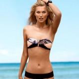 seksowny strój kąpielowy H&M w kolorze czarno - łososiowym - stroje kąpielowe 2013