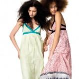 seledynowa sukienka Benetton długa - moda 2012