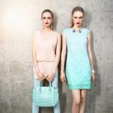 seledynowa sukienka Pretty Girl koronkowa - kolekcja letnia