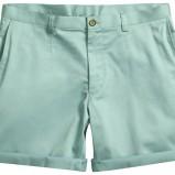 seledynowe spodnie H&M materiałowe - lato 2012