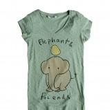 seledynowy t-shirt Pull and Bear we wzory - wiosna/lato 2011