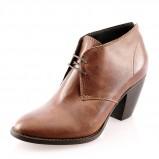 skórzana botki Prima Moda w kolorze brązowym - obuwie damskie