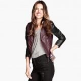 skórzana ramoneska H&M - moda na zimę 2013/14