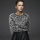 skórzana spódniczka Pull and Bear w kolorze czarnym - ubrania na zimę 2013