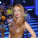 skórzana sukienka w kolorze brązowym - Agnieszka Szulim