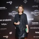 skórzana sukienka w kolorze czarnym - Anna Wojciechowska
