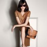skórzana torebka Max Mara w kolorze brązowym - ubrania dla kobiet na wiosnę i lato 2013