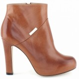 skórzane botki Baldowski w kolorze brązowym - modne buty dla kobiet