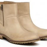 skórzane botki Reserved w kolorze brązowym - kolekcja obuwia na wiosnę 2013